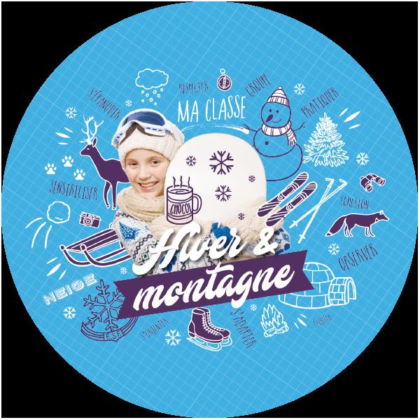 unat unat thematique rond hiver et montagne x px